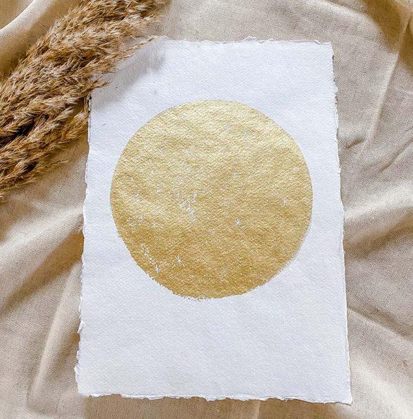 Volle maan poster goud